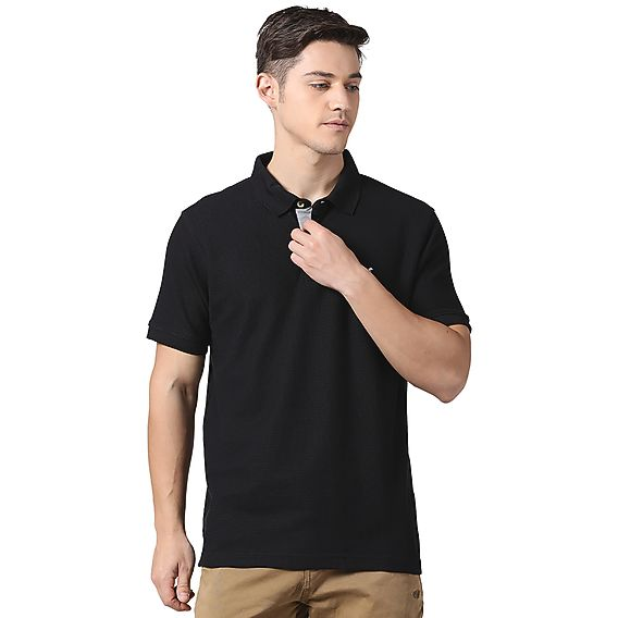 50373c59bf8 Buy Men Polo T Shirt - Black Online