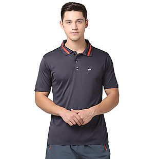 Wildcraft Men Poly Bonded Polo T-Shirt - Grey