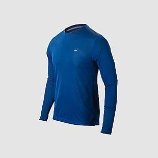 Wildcraft Men Hypacool  Full Sleeve Hiking T Shirt - Navy Blue