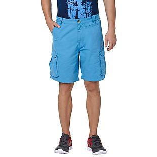 Wildcraft Men 7-Pocket Cargo Shorts - Blue